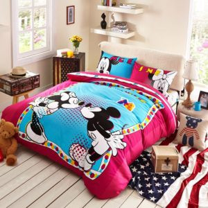 Lovely Mickey Minnie Mouse Kids Bedding Set 1 300x300 - Lovely Mickey & Minnie Mouse Kids Bedding Set