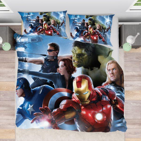 Marvel Avengers 2 Movie Super Heroes Bed In Bag