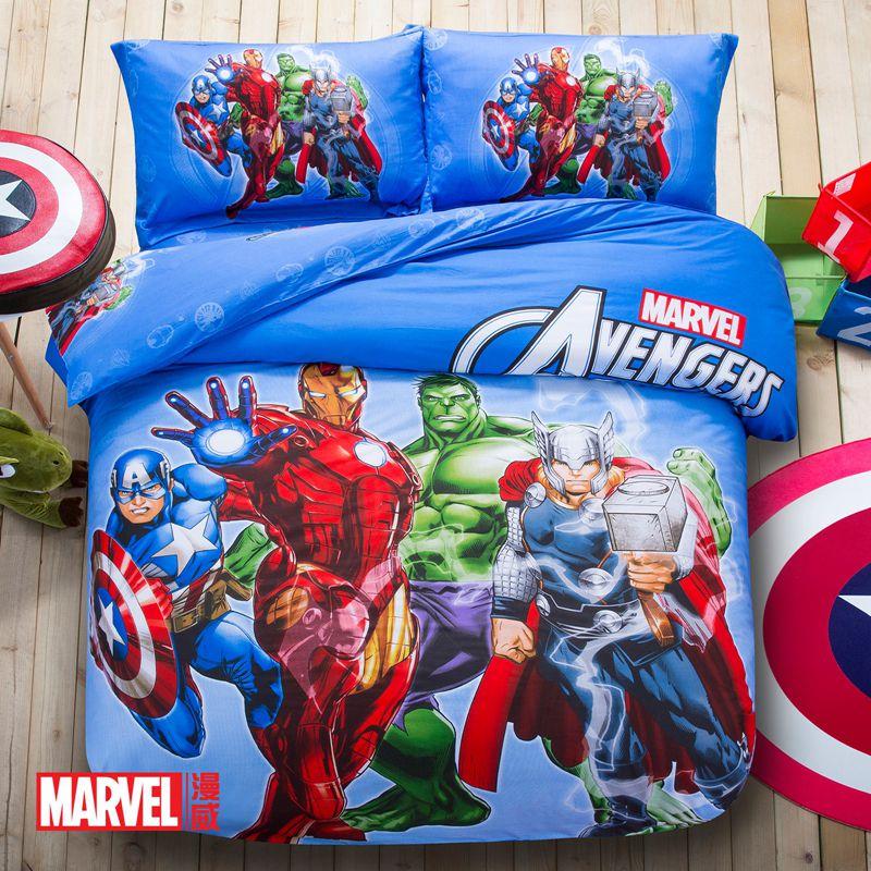 Marvel Avengers Kids Cartoon Bedding Set Ebeddingsets