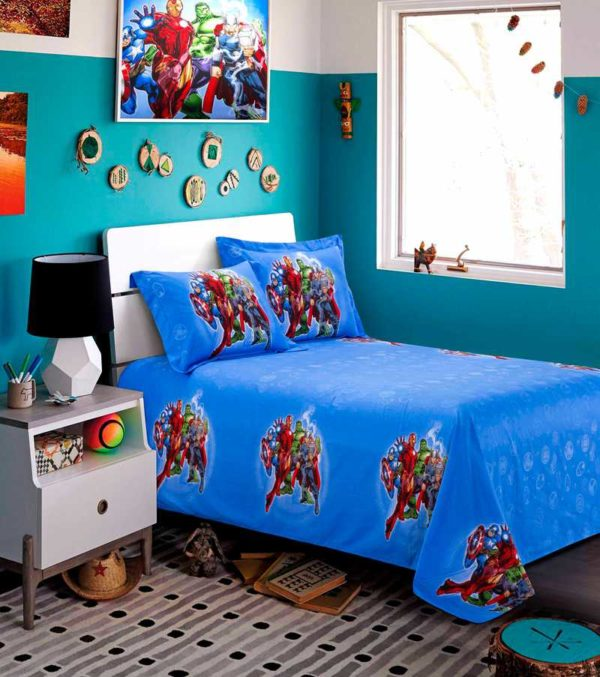Marvel Avengers Kids Cartoon Bedding Set 2 600x677 - Marvel Avengers Kids Cartoon Bedding Set