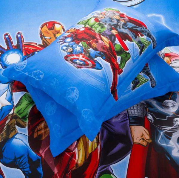 Marvel Avengers Kids Cartoon Bedding Set 4 600x595 - Marvel Avengers Kids Cartoon Bedding Set