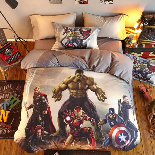 Marvel Super Heroes Teens Bedding Set Twin Queen Size