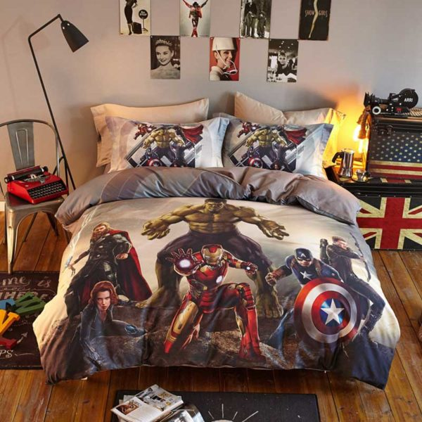 Marvel Super Heroes Teens Bedding Set Twin Queen Size 2 600x600 - Marvel Super Heroes Teens Bedding Set Twin Queen Size