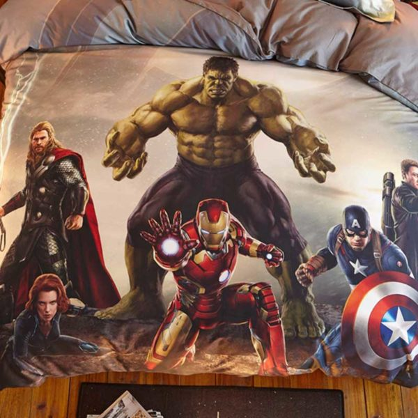 Marvel Super Heroes Teens Bedding Set Twin Queen Size 4 600x600 - Marvel Super Heroes Teens Bedding Set Twin Queen Size