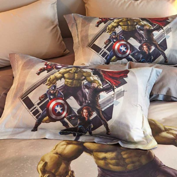 Marvel Super Heroes Teens Bedding Set Twin Queen Size 5 600x600 - Marvel Super Heroes Teens Bedding Set Twin Queen Size
