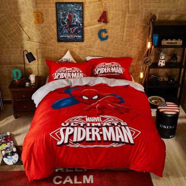 Marvel Ultimate Spider Man Red Color Teen Boys Bedding Set