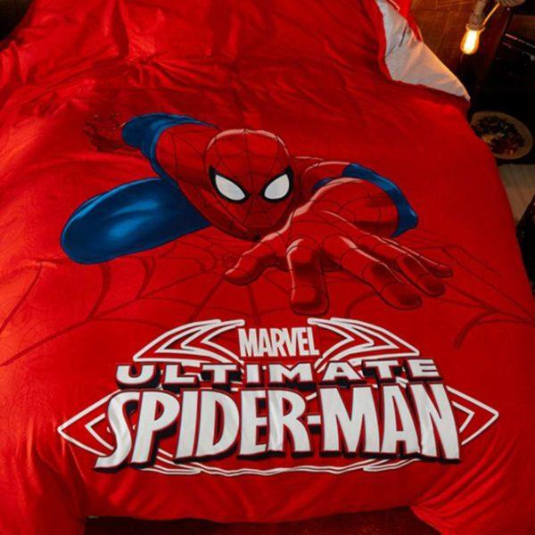 Marvel Ultimate Spider Man Red Color Teen Boys Bedding Set 3
