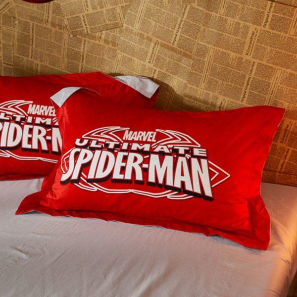 Marvel Ultimate Spider Man Red Color Teen Boys Bedding Set 4