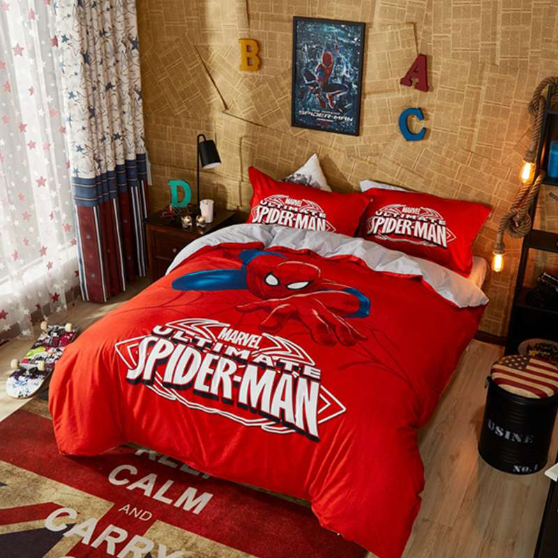 Marvel Ultimate Spider Man Red Color Teen Boys Bedding Set