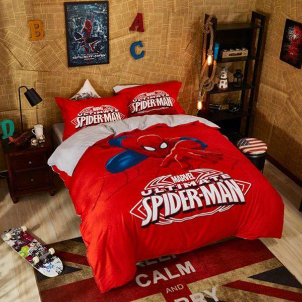 Marvel Ultimate Spider Man Red Color Teen Boys Bedding Set 6