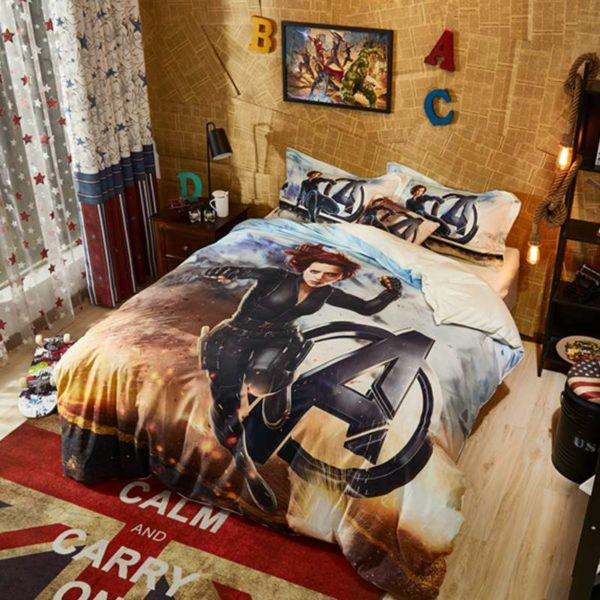 Maverl Avengers Black Widow Bedding Set 5