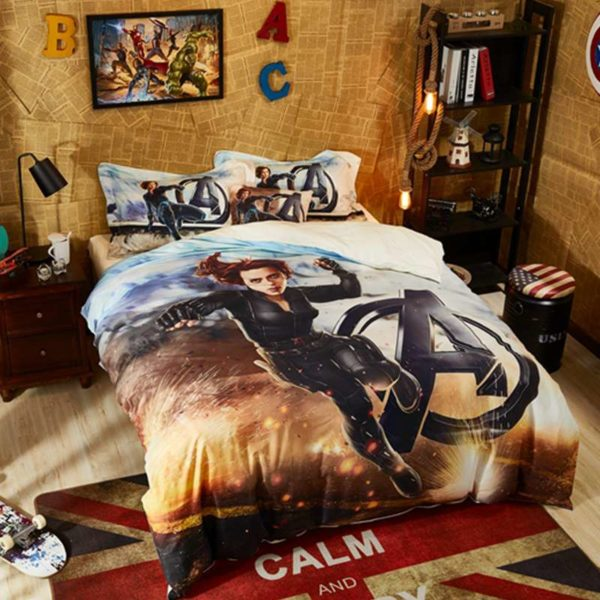 Maverl Avengers Black Widow Bedding Set 6