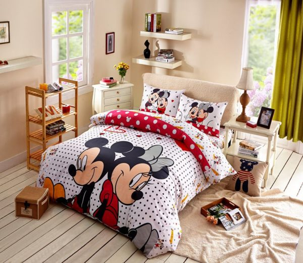 Mickey Minnie Mouse Polka Dot Bedding Set 1