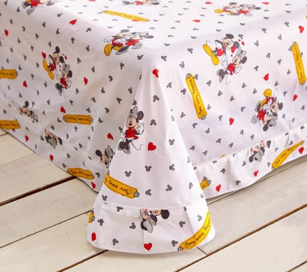 Mickey Minnie Mouse Polka Dot Bedding Set 2