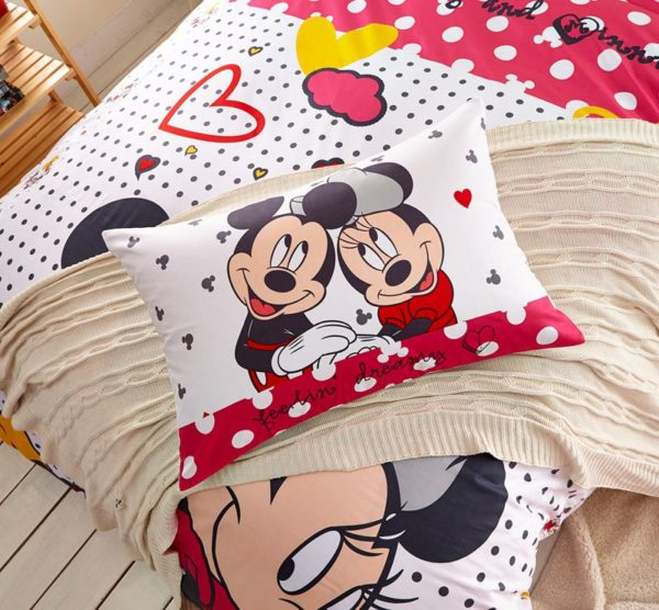Mickey Minnie Mouse Polka Dot Bedding Set 5