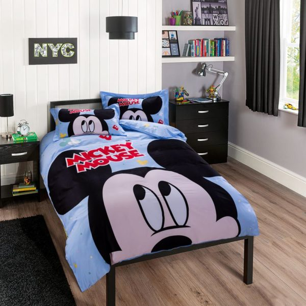 Mickey Mouse Birthday Gift For Boys Bedding Set