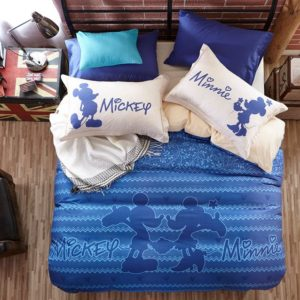 Mickey Mouse Chevron Navy Color Bedding Set