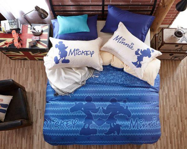 Mickey Mouse Chevron Navy Color Bedding Set