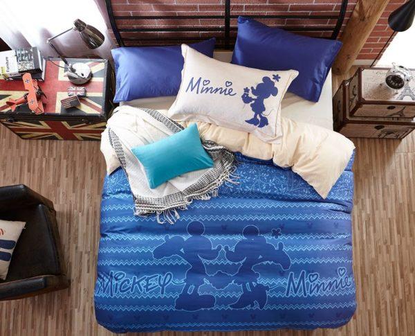 Mickey Mouse Chevron Navy Color Bedding Set 2 600x485 - Mickey Mouse Chevron Navy Color Bedding Set
