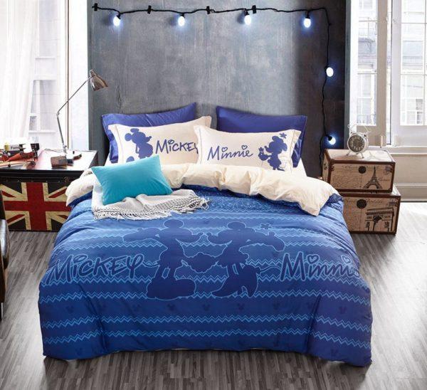 Mickey Mouse Chevron Navy Color Bedding Set 3 600x548 - Mickey Mouse Chevron Navy Color Bedding Set