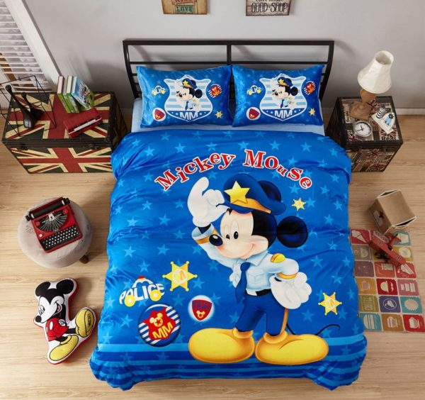 Mickey Mouse Police Kids Comforter Set 1 600x564 - Mickey Mouse Police Kids Comforter Set