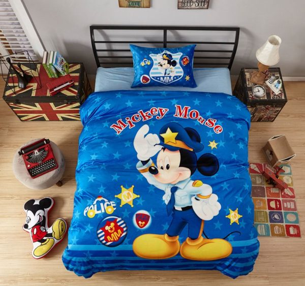 Mickey Mouse Police Kids Comforter Set 2 600x563 - Mickey Mouse Police Kids Comforter Set