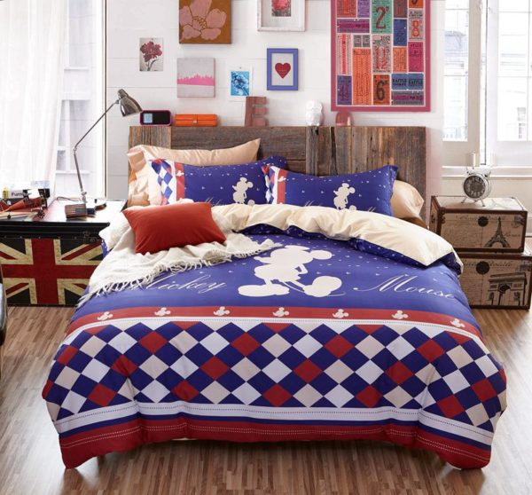 Mickey Mouse Silhouette Checkered Pattern Bedding Set 3 600x558 - Mickey Mouse Silhouette Checkered Pattern Bedding Set