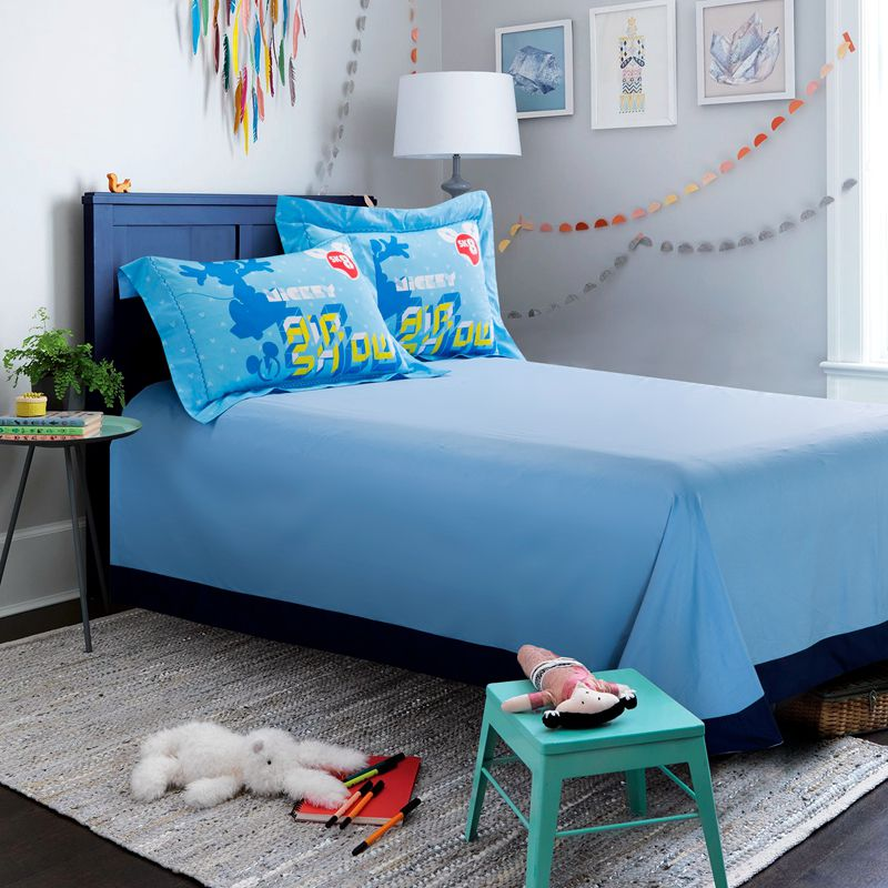 Mickey Mouse Skateboarding Light Blue Bedding Set Ebeddingsets