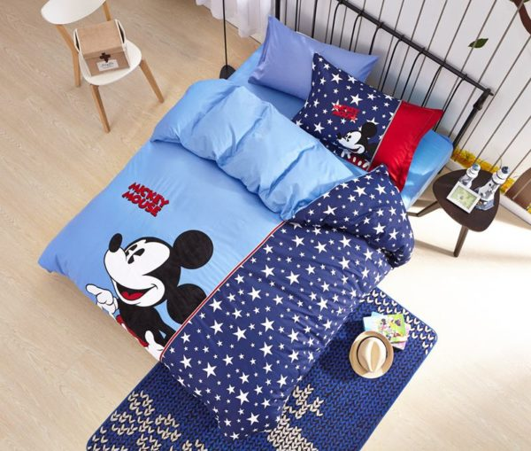 Mickey Mouse boys queen size bedding set 3 600x509 - Mickey Mouse Boys Queen Size Embroidery Bedding Set