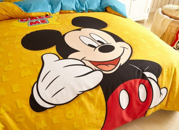 Mickey Mouse cool teen bedding Set 4 600x437 - Mickey Mouse Cool Teen Bedding Set
