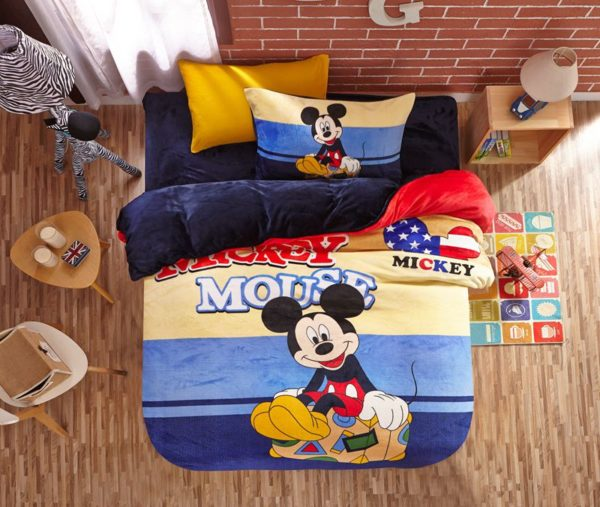Mickey Mouse kids bedding sets for boys 1 600x507 - Mickey Mouse kids bedding sets for boys