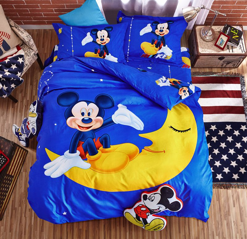 Mickey And Minnie Mouse In The Moon Bedding Set Ebeddingsets