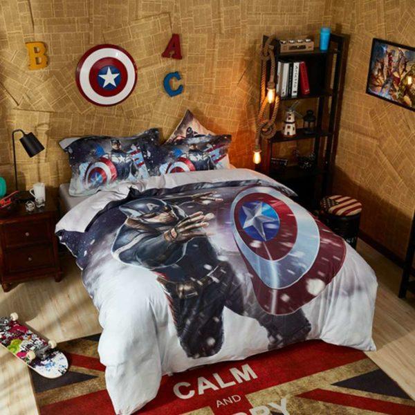 Mind Blowing Captain America Comforter Set