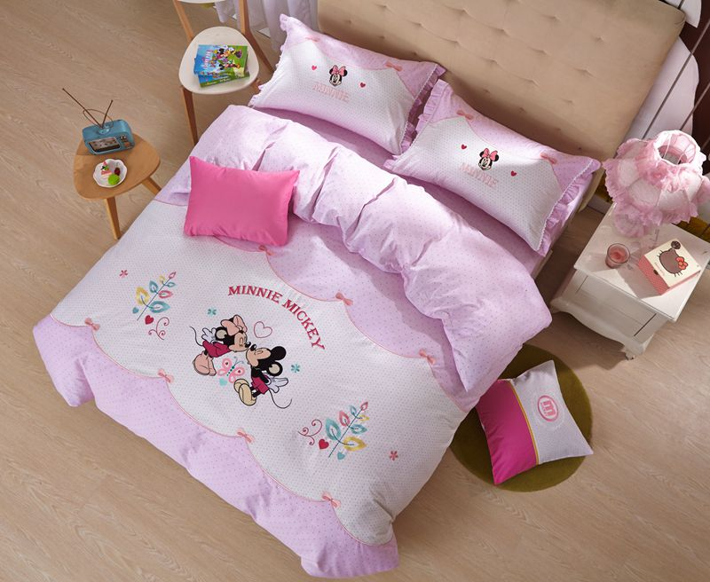 Minnie Mickey Disney Embroidery Comforter Set For Teens Ebeddingsets