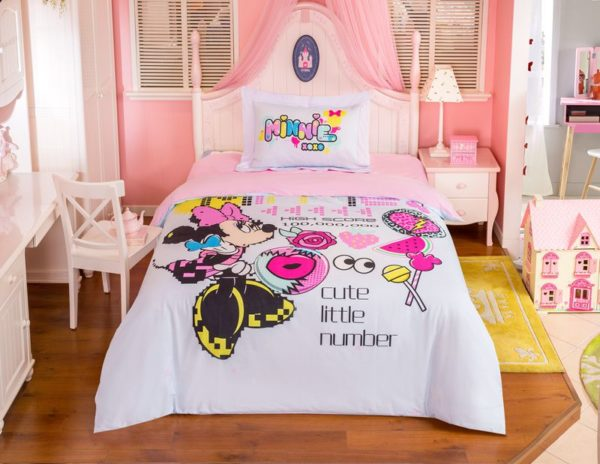 Minnie Mouse Game Cute Little Number Bitmap Patterned Bedding 1 600x464 - Minnie Mouse Game Cute Little Number Bitmap Patterned Bedding