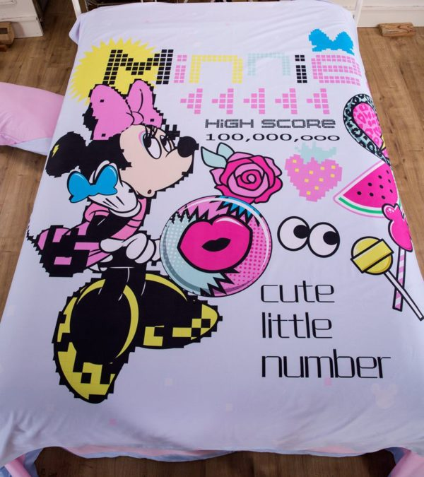Minnie Mouse Game Cute Little Number Bitmap Patterned Bedding