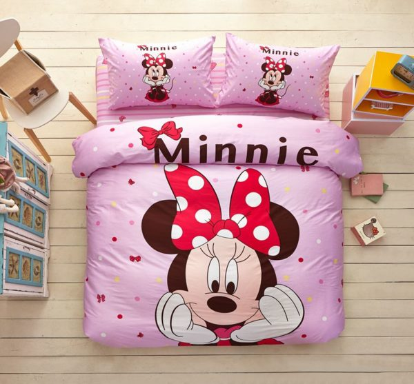 Minnie Mouse Pink Bedding Set Twin Queen Size 1 600x557 - Minnie Mouse Pink Bedding Set Twin Queen Size