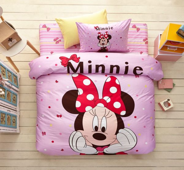 Minnie Mouse Pink Bedding Set Twin Queen Size 2 600x553 - Minnie Mouse Pink Bedding Set Twin Queen Size