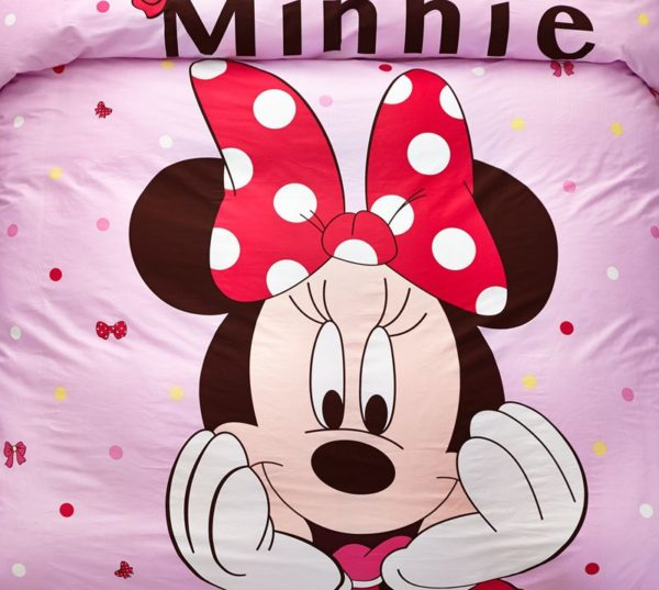 Minnie Mouse Pink Bedding Set Twin Queen Size 3 600x537 - Minnie Mouse Pink Bedding Set Twin Queen Size