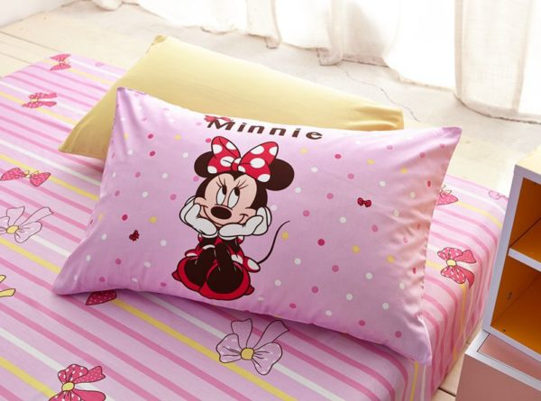 Minnie Mouse Pink Bedding Set Twin Queen Size 7