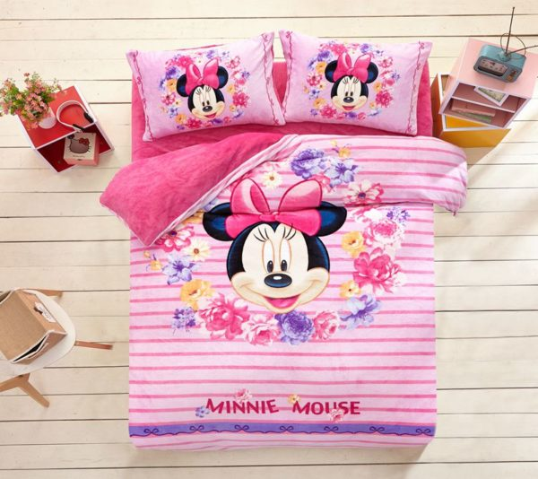 Minnie Mouse Pink kids bedding sets for girls 1 600x534 - Minnie Mouse Pink kids bedding sets for girls