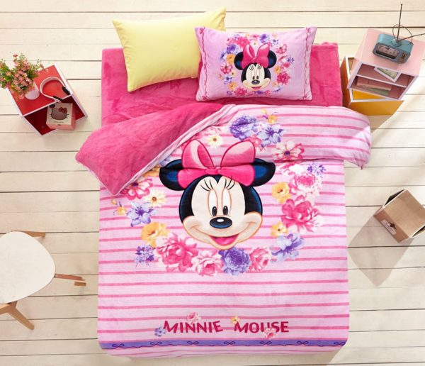 Minnie Mouse Pink kids bedding sets for girls 2 600x516 - Minnie Mouse Pink kids bedding sets for girls