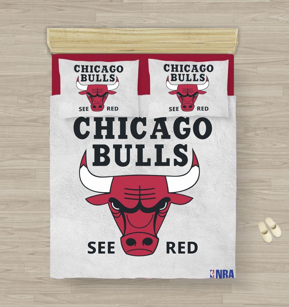 Chicago Bulls Bedding Set King