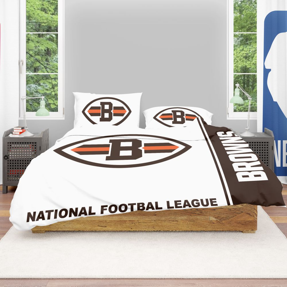cc24e08d Buy NFL Cleveland Browns Bedding Comforter Set | Up to 50% Off