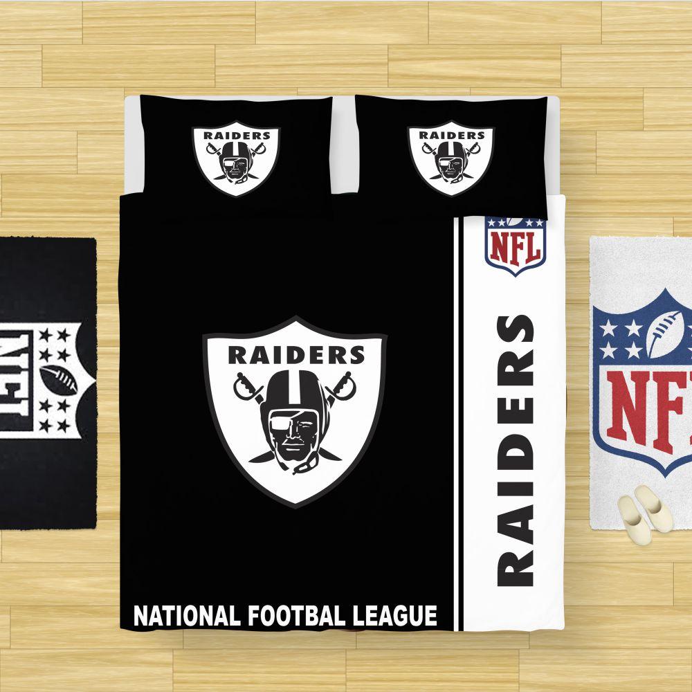 Buy Nfl Oakland Raiders Bedding Comforter Set Up To 50 Off