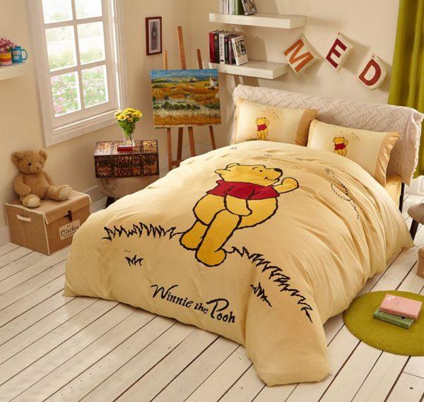 Navajowhite Color Winnie Pooh Bedding Set