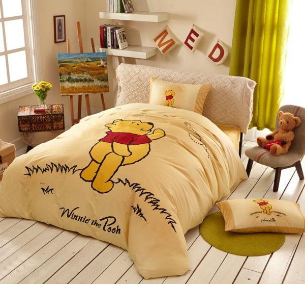 NavajoWhite Color Winnie Pooh Bedding Set 3 600x557 - Navajowhite Color Winnie Pooh Bedding Set