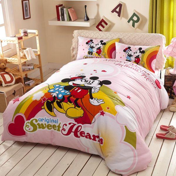 Original Sweet Hearts Mickey & Minnie Bedding Set