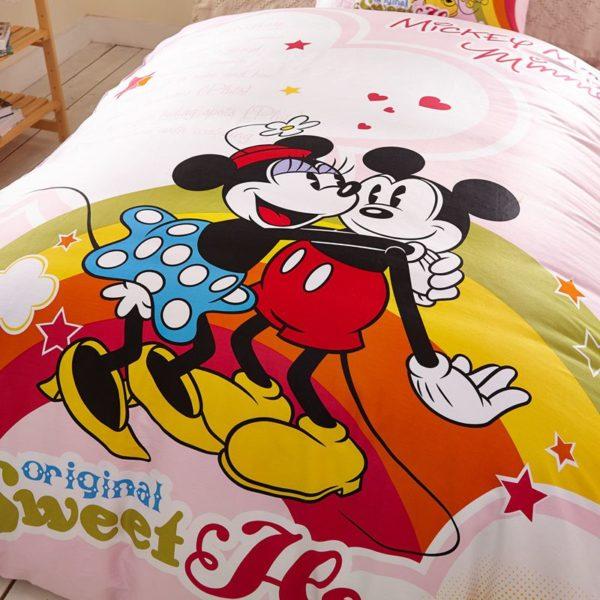 Original Sweet Hearts Mickey Minnie Bedding Set 3 600x600 - Original Sweet Hearts Mickey & Minnie Bedding Set