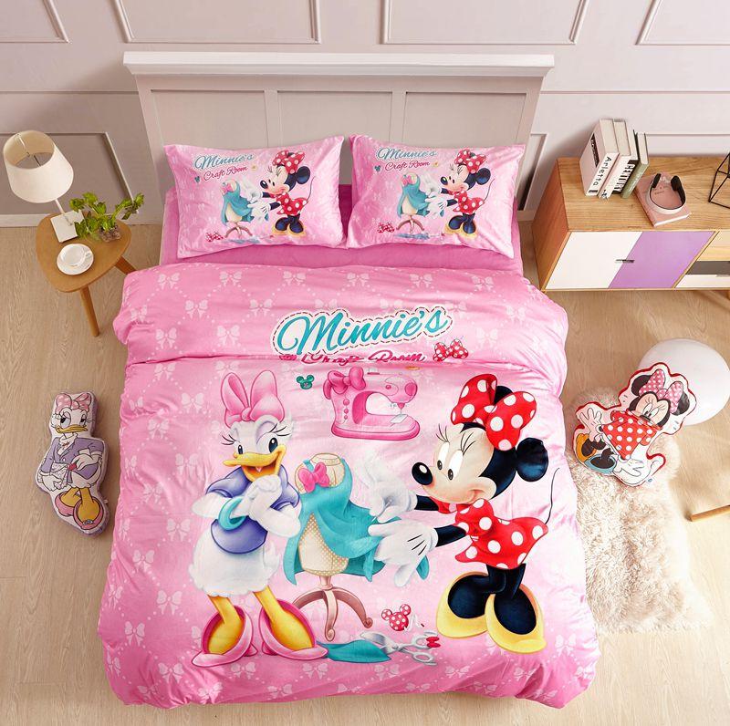 pink disney minnie mouse teen bedding set  ebeddingsets